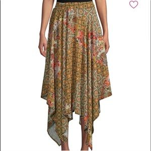 LAST CHANCE Free People Stay Away Mosaic skirt